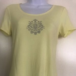 green tea ,yellow tank top ,short sleeves S size